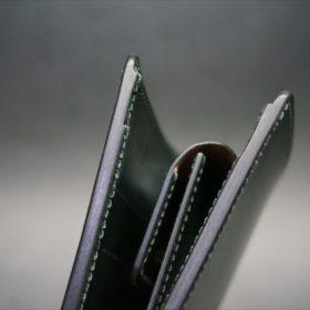 ダークグリーンのセドウィック社製ブライドルレザーの二つ折り財布-5