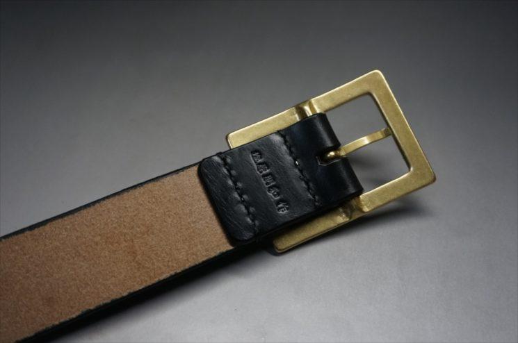 J.ベイカー社製ブライドルレザーのブラックのゴールドバックルのベルトのLサイズの刻印