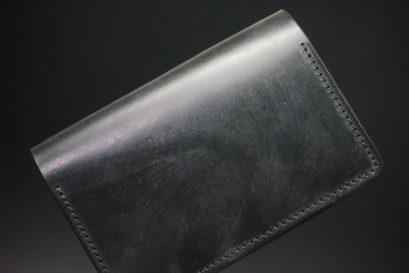 メトロポリタン社製ブライドルレザーのベンズ部位のブラックの名刺入れ-1-1