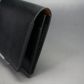 メトロポリタン社製ブライドルレザーのベンズ部位のブラックの名刺入れ-1-3