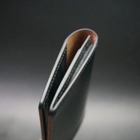メトロポリタン社製ブライドルレザーのベンズ部位のブラックの名刺入れ-1-5