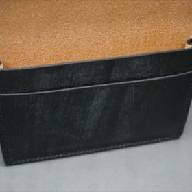 メトロポリタン社製ブライドルレザーのベンズ部位のブラックの名刺入れ-1-9