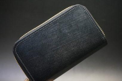 セドウィック社製ブライドルレザーのブラック色のラウンドファスナー小銭入れ(ゴールド色)-1-1