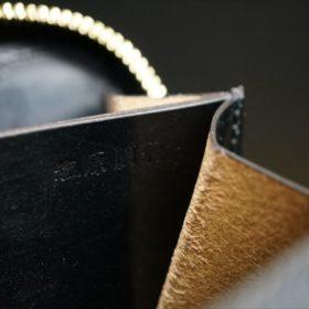 セドウィック社製ブライドルレザーのブラック色のラウンドファスナー小銭入れ(ゴールド色)-1-11