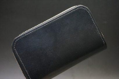 セドウィック社製ブライドルレザーのブラック色のラウンドファスナー小銭入れ(シルバー色)-1-1