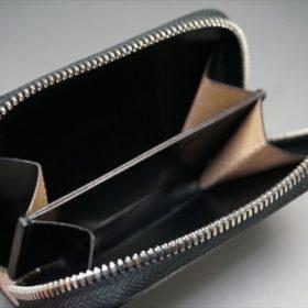 セドウィック社製ブライドルレザーのブラック色のラウンドファスナー小銭入れ(シルバー色)-1-10