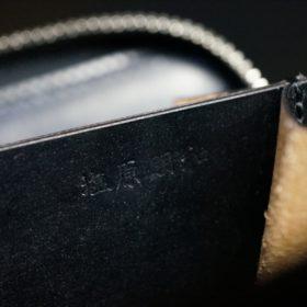 セドウィック社製ブライドルレザーのブラック色のラウンドファスナー小銭入れ(シルバー色)-1-12