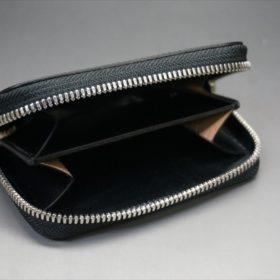 セドウィック社製ブライドルレザーのブラック色のラウンドファスナー小銭入れ(シルバー色)-1-7