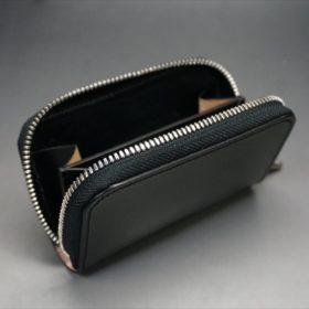 セドウィック社製ブライドルレザーのブラック色のラウンドファスナー小銭入れ(シルバー色)-1-9