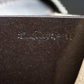 セドウィック社製ブライドルレザーのチョコ色のラウンドファスナー小銭入れ(ゴールド色)-1-9