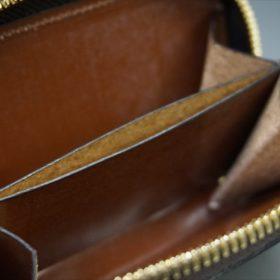 セドウィック社製ブライドルレザーのヘーゼルブラウンのラウンドファスナー小銭入れ(ゴールド色)-1-10