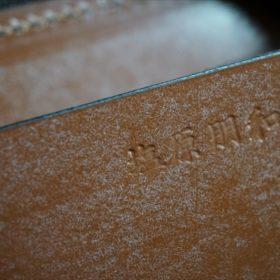 セドウィック社製ブライドルレザーのヘーゼルブラウンのラウンドファスナー小銭入れ(ゴールド色)-1-11
