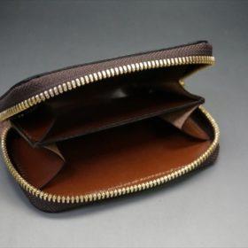 セドウィック社製ブライドルレザーのヘーゼルブラウンのラウンドファスナー小銭入れ(ゴールド色)-1-5