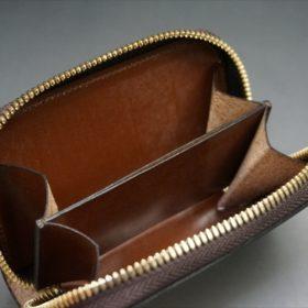 セドウィック社製ブライドルレザーのヘーゼルブラウンのラウンドファスナー小銭入れ(ゴールド色)-1-9