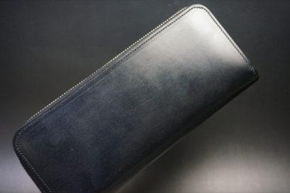 セドウィック社製ブライドルレザーのブラックカラーのラウンドファスナー長財布の本体外側