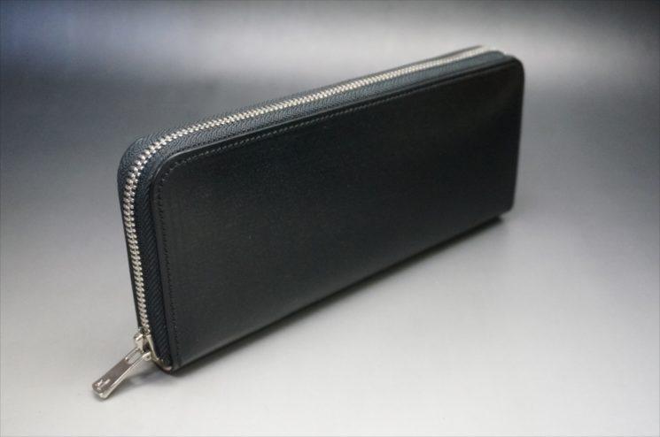 セドウィック社製ブライドルレザーのブラックカラーのラウンドファスナー長財布のサイズが分かる画像