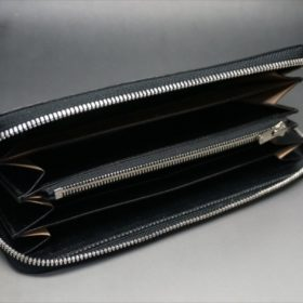 セドウィック社製ブライドルレザーのブラックカラーのラウンドファスナー長財布の内側-2