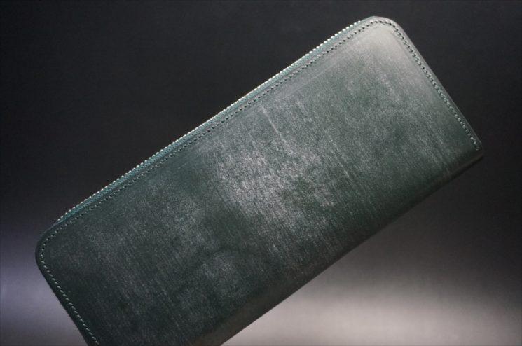 セドウィック社製ブライドルレザーのダークグリーンのラウンドファスナー長財布-1