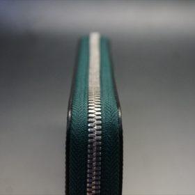 セドウィック社製ブライドルレザーのダークグリーンのラウンドファスナー長財布-6