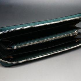 セドウィック社製ブライドルレザーのダークグリーンのラウンドファスナー長財布-8