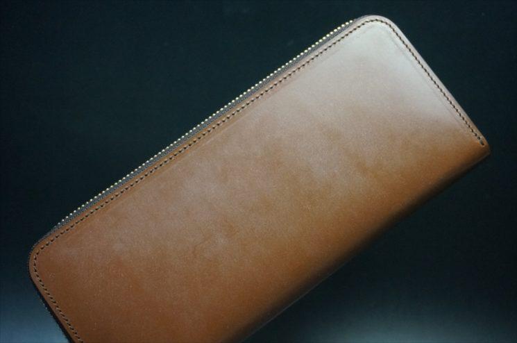 セドウィック社製ブライドルレザーのヘーゼル色のラウンドファスナー長財布(ゴールド色)-1-1