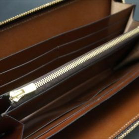 セドウィック社製ブライドルレザーのヘーゼル色のラウンドファスナー長財布(ゴールド色)-1-10