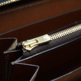 セドウィック社製ブライドルレザーのヘーゼル色のラウンドファスナー長財布(ゴールド色)-1-11