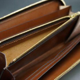 セドウィック社製ブライドルレザーのヘーゼル色のラウンドファスナー長財布(ゴールド色)-1-12