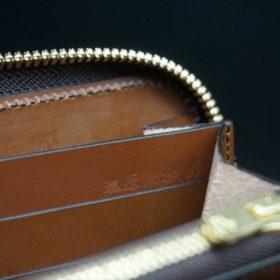 セドウィック社製ブライドルレザーのヘーゼル色のラウンドファスナー長財布(ゴールド色)-1-14
