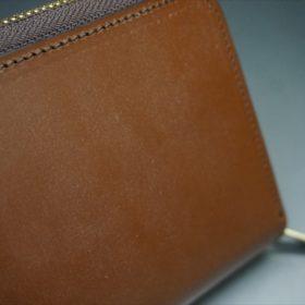 セドウィック社製ブライドルレザーのヘーゼル色のラウンドファスナー長財布(ゴールド色)-1-15