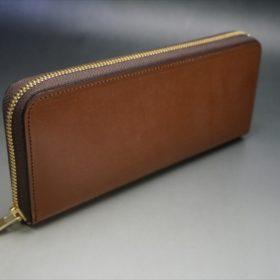 セドウィック社製ブライドルレザーのヘーゼル色のラウンドファスナー長財布(ゴールド色)-1-2
