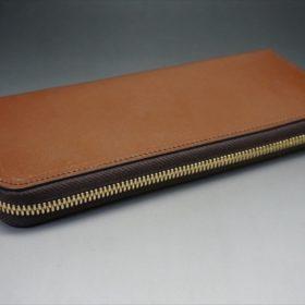 セドウィック社製ブライドルレザーのヘーゼル色のラウンドファスナー長財布(ゴールド色)-1-5