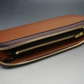 セドウィック社製ブライドルレザーのヘーゼル色のラウンドファスナー長財布(ゴールド色)-1-6
