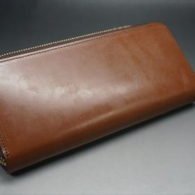 セドウィック社製ブライドルレザーのヘーゼル色のラウンドファスナー長財布(ゴールド色)-1-7