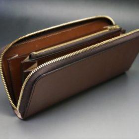 セドウィック社製ブライドルレザーのヘーゼル色のラウンドファスナー長財布(ゴールド色)-1-9
