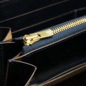 セドウィック社製ブライドルレザーのネイビーカラーのラウンドファスナー長財布-12