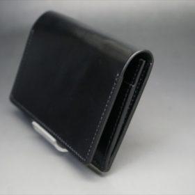 ホーウィン社製シェルコードバンのブラック色の名刺入れ-1-3