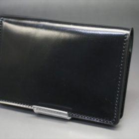 ホーウィン社製シェルコードバンのブラック色の名刺入れ-1-4