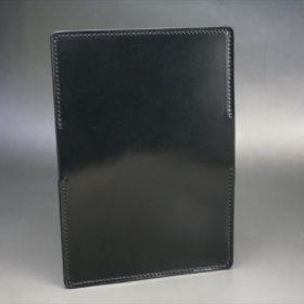 ホーウィン社製シェルコードバンのブラック色の名刺入れ-1-6