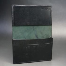 ホーウィン社製シェルコードバンのブラック色の名刺入れ-1-7