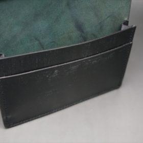 ホーウィン社製シェルコードバンのブラック色の名刺入れ-1-9