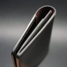 ホーウィン社製シェルコードバンのバーガンディ色の名刺入れ-1-5