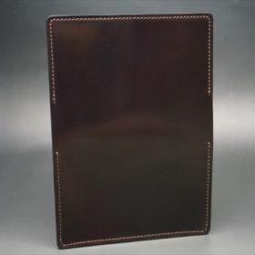 ホーウィン社製シェルコードバンのバーガンディ色の名刺入れ-1-6