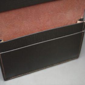 ホーウィン社製シェルコードバンのバーガンディ色の名刺入れ-1-9