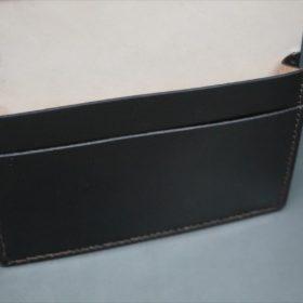 レーデルオガワ社製染料仕上げコードバンのバーガンディ色の名刺入れ-1-8