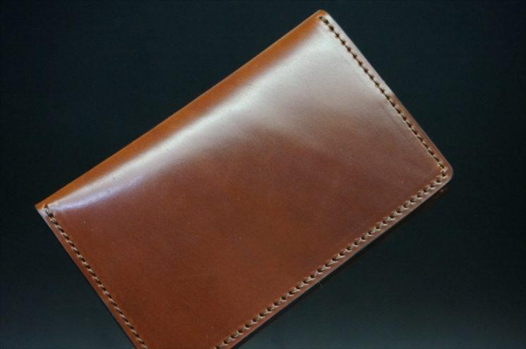 ホーウィン社製シェルコードバンの#4色の横長タイプの小銭入れ(ゴールド色)-1-1