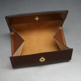 ホーウィン社製シェルコードバンの#4色の横長タイプの小銭入れ(ゴールド色)-1-8