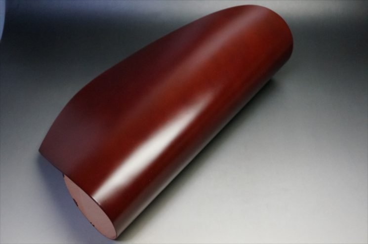 新喜皮革社製顔料仕上げコードバンのアンティーク色の見本-3