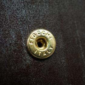 メトロポリタン社製ブライドルレザーのベンズ部位のダークブラウン色の二つ折り財布(ゴールド)-1-11