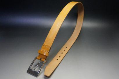 セドウィック社製ブライドルレザーのベンズ部位ロンドンタン色の35mmベルト(ビジネスバックル/シルバー色)-1-1